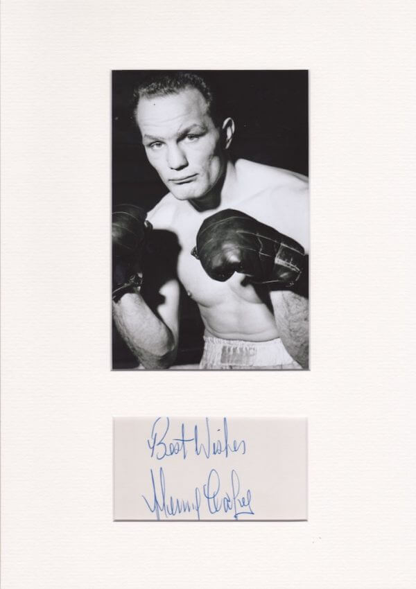 Henry Cooper Mounted Autograph