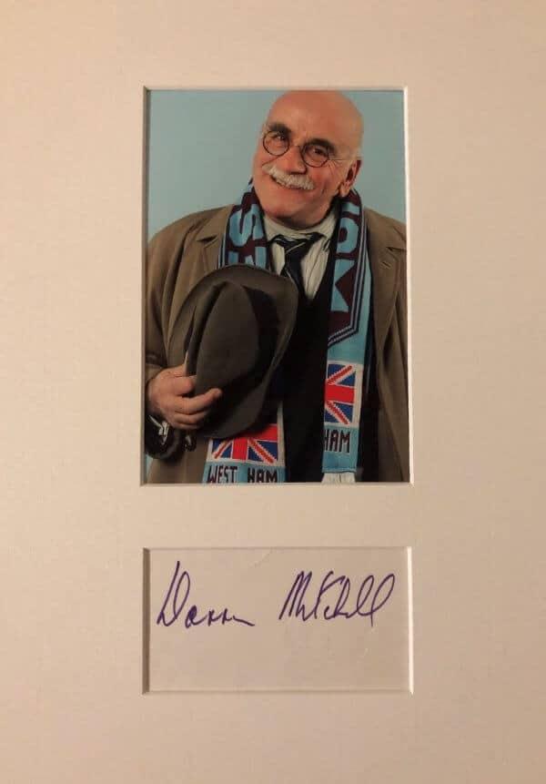 Warren Mitchell Mounted Autograph