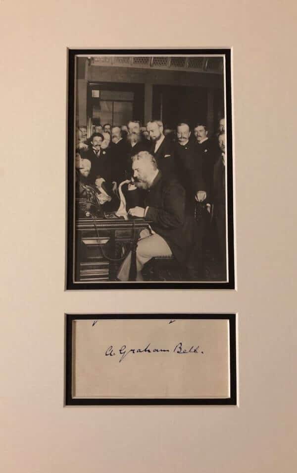 Alexander Graham Bell Mounted Autograph