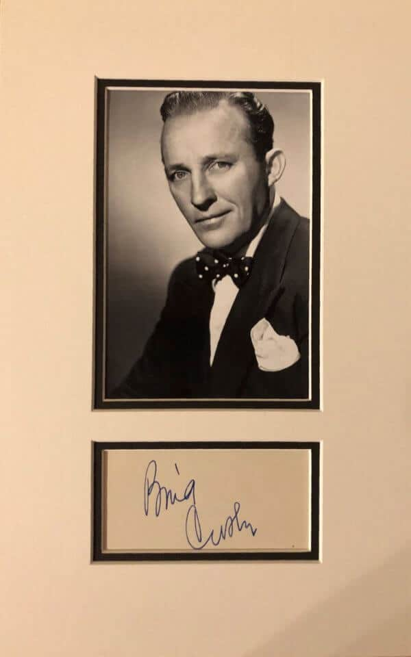 Bing Crosby Autograph Mounted