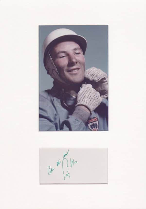 Stirling Moss Mounted Autograph