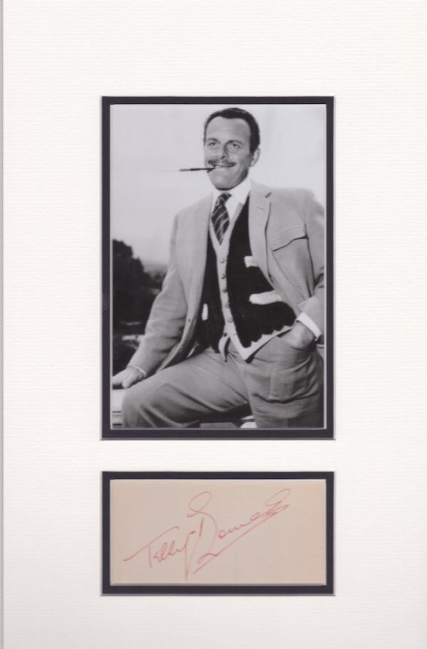 Terry Thomas Mounted Autograph