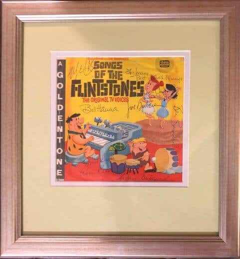Flintstones Hanna and Barbera Signed Single
