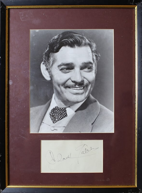 Clark Gable Framed Autograp