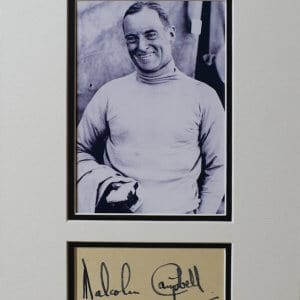 Major Sir Malcolm Campbell MBE (11 March 1885 – 31 December 1948) was a British racing motorist and motoring journalist