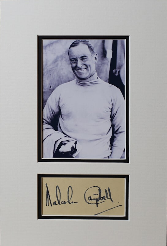 Malcolm Campbell Signed Autograph