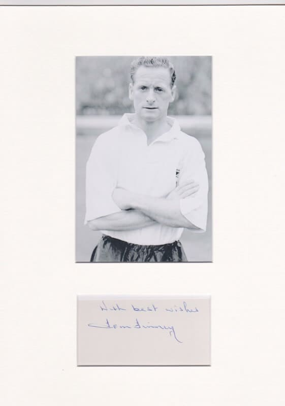Tom Finney Mounted Autograph