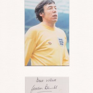 Gordon Banks OBE was an English professional footballer who played as a goalkeeper