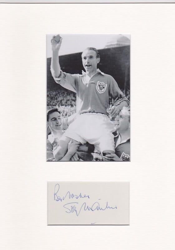 Stanley Matthews Mounted Autograph