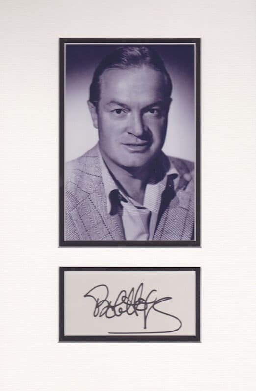 Bob Hope Mounted Autograph Page