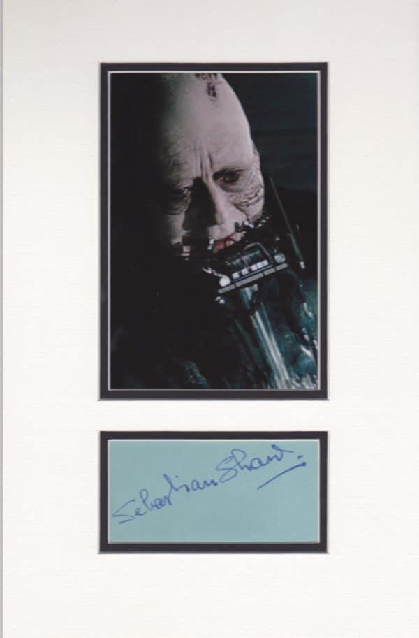 Sebastian Shaw Autograph Mounted