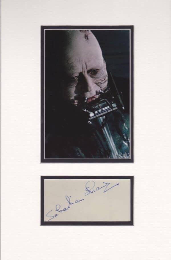 Sebastian Shaw Signed Autograph Page