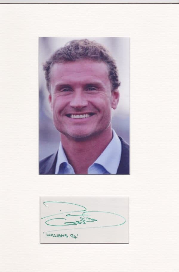 David Coulthard Mounted Autograph