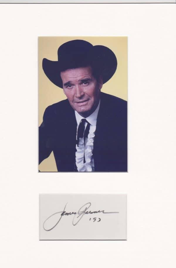 James Garner Mounted Autograph