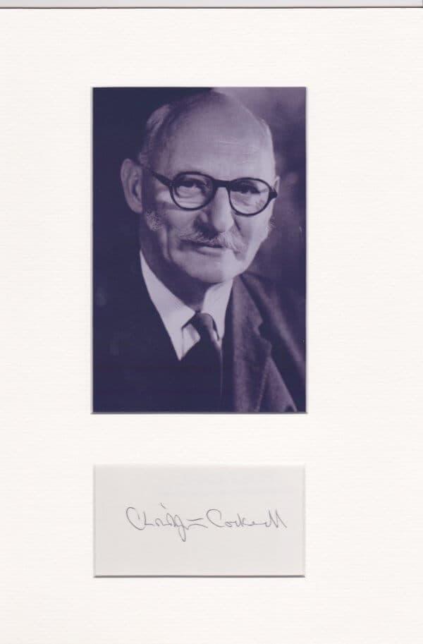 Christopher Cockerell Mounted Autograph