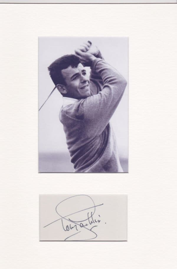 Tony Jacklin Mounted Autograph