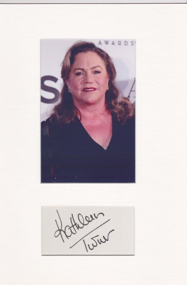 Kathleen Turner Signed Autograph PAge