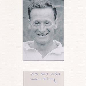 Sir Thomas Finney CBE (5 April 1922 – 14 February 2014) was an English footballer who played from 1946 to 1960