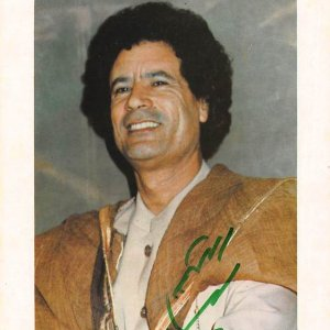 Muammar Mohammed Abu Minyar Gaddafi [1942 – 20 October 2011), commonly known as Colonel Gaddafi