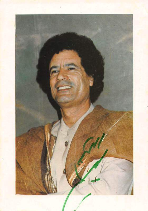 Colonel Gaddafi Signed Picture