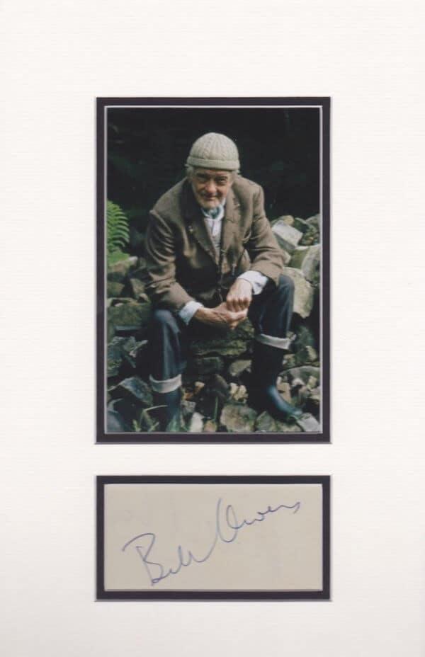 Bill Owen mounted Autograph Page