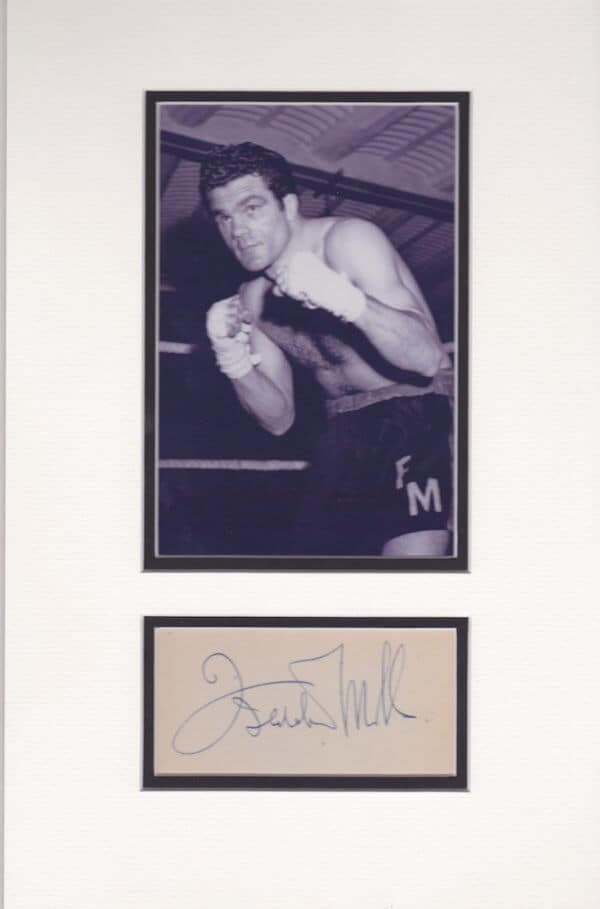 Freddie Mills Mounted Autograph Page