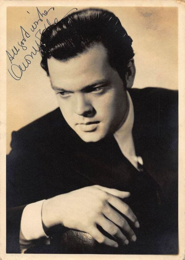 Orson Welles signed Picture