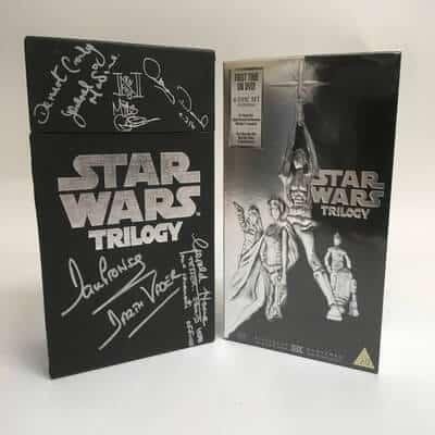 Star Wars Signed DVD Trilogy