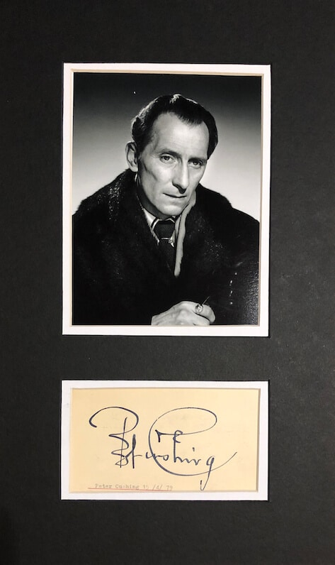 Peter Cushing Mounted Autograph