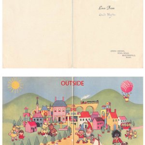 Signed Christmas Card from Famous Children's Writer Enid Blyton