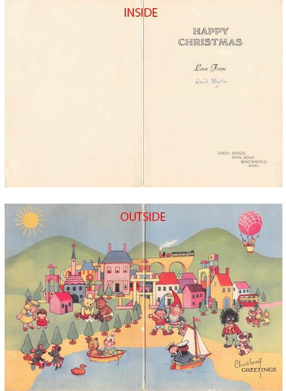 Enid Blyton Christmas Card