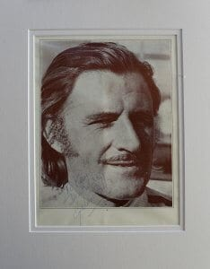 Graham Hill Mounted Autograph