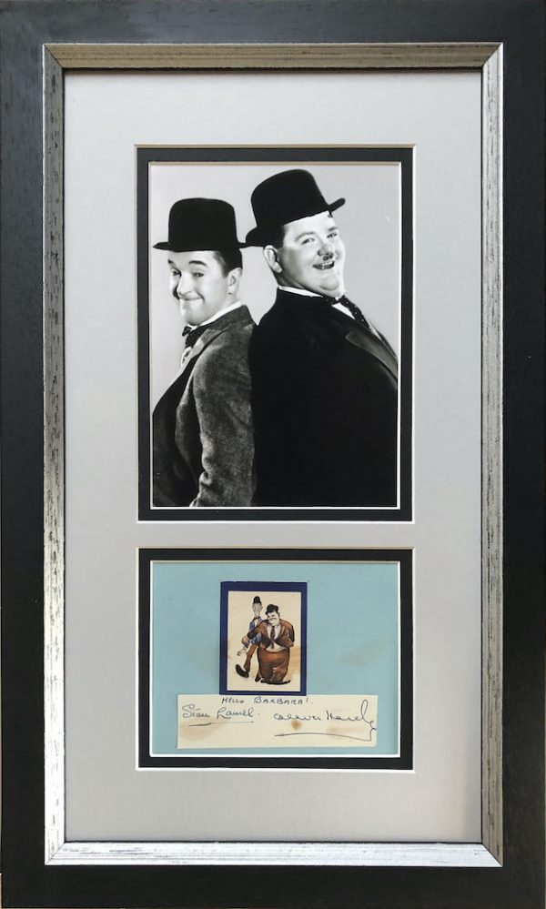 Laurel and Hardy Mounted Autograph Page
