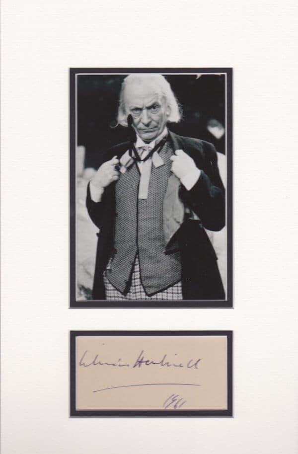 William Hartnell Autograph Mounted