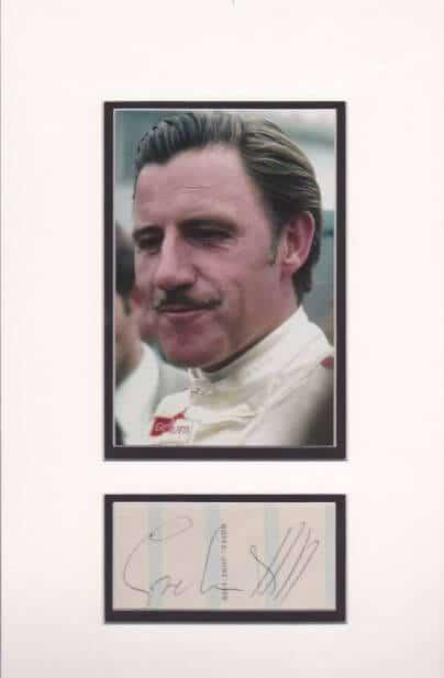 Graham Hill Autograph