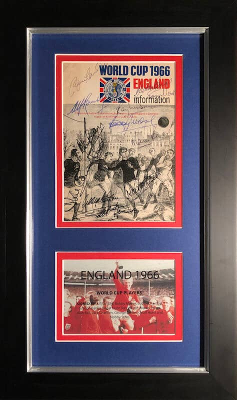 England 1966 World Cup Autographs