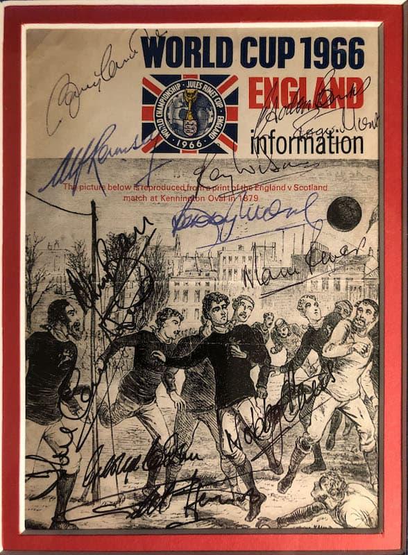 England Signed Booklet