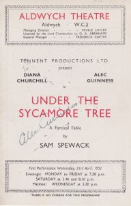 Alec Guinness signed Programme