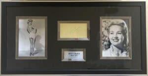 Bettye Grable Autograph Montage