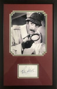 Peter Sellers Framed Autograph