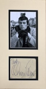 Oliver Reed Mounted Autograph Page