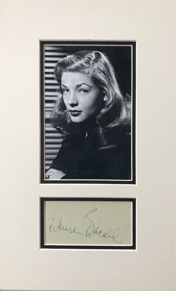Lauren Bacall signed autograph