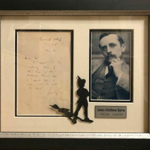 J M Barrie Scottish Novelist and Playwright remembered for his creation of Peter Pan.