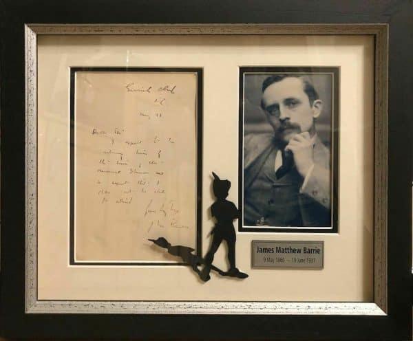 J M Barrie Autograph Letter