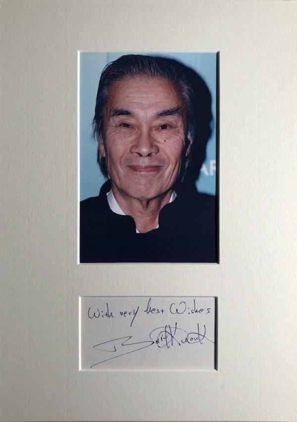 Burt Kwouk Autograph Page