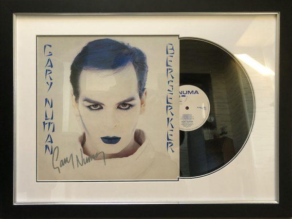 Gary Numan Signed Album Display