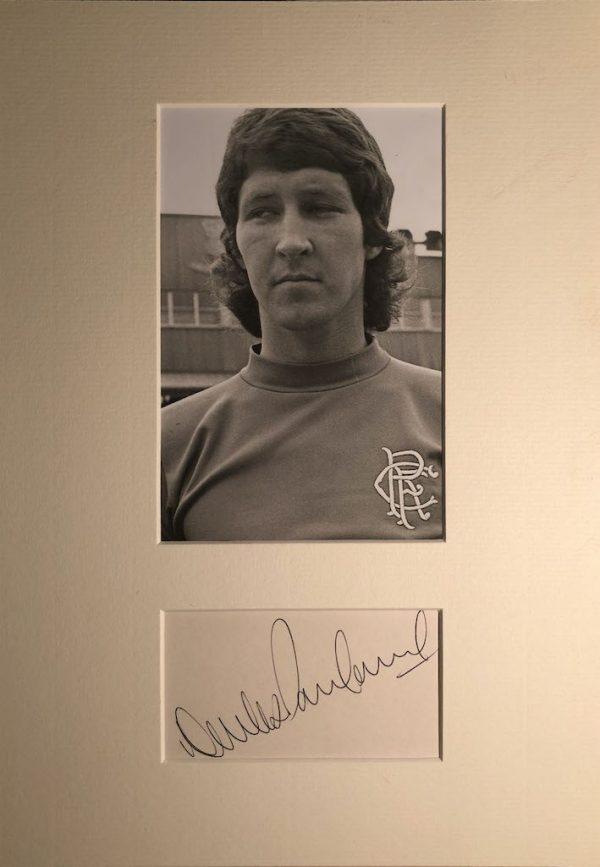 Derek Parlane Autograph Mounted