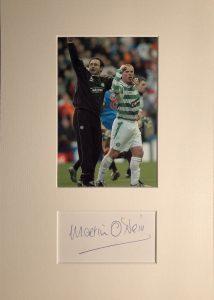 Martin O Neill Autograph Mounted