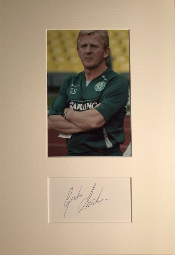 Gordon Strachan Autograph Mounted