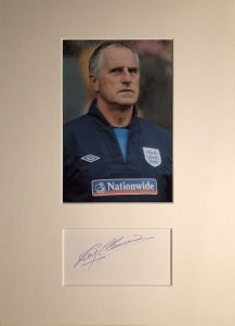 Ray Clemence Autograph Mounted
